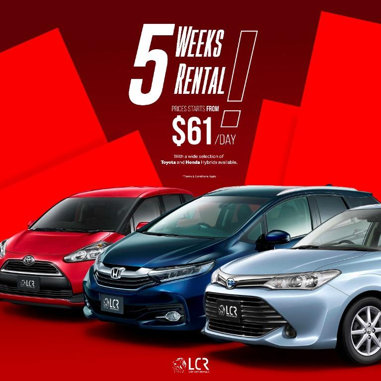 Rent a Hybrid Vehicle with prices starting from just $61/day!