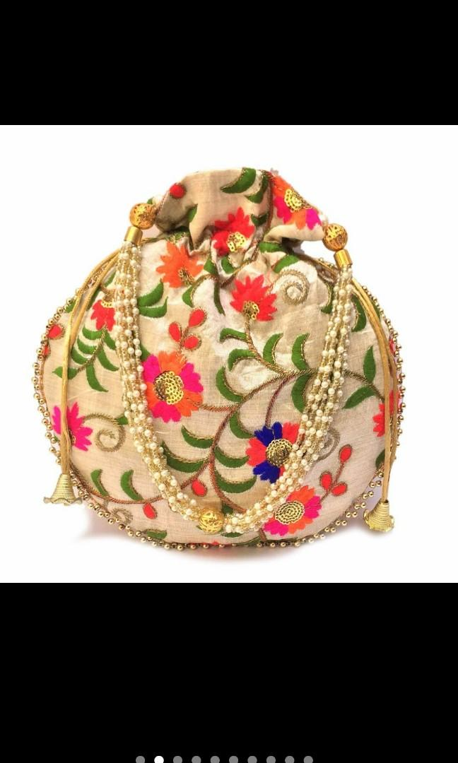 Wedding Favor potli bags drawstring pouch bridal ahower gift for guests indian return gifts