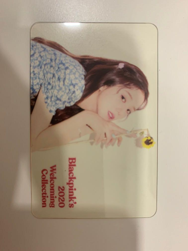 WTS JISOO Blackpink official welcoming 2020 clear card