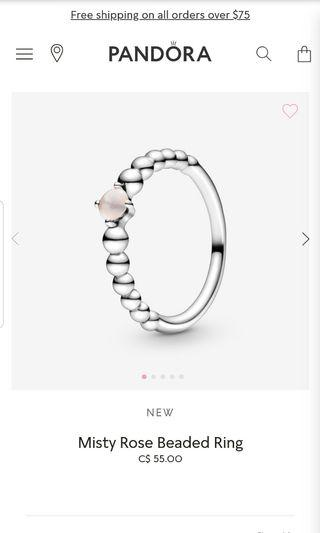 Pandora Misty Rose Beaded Ring