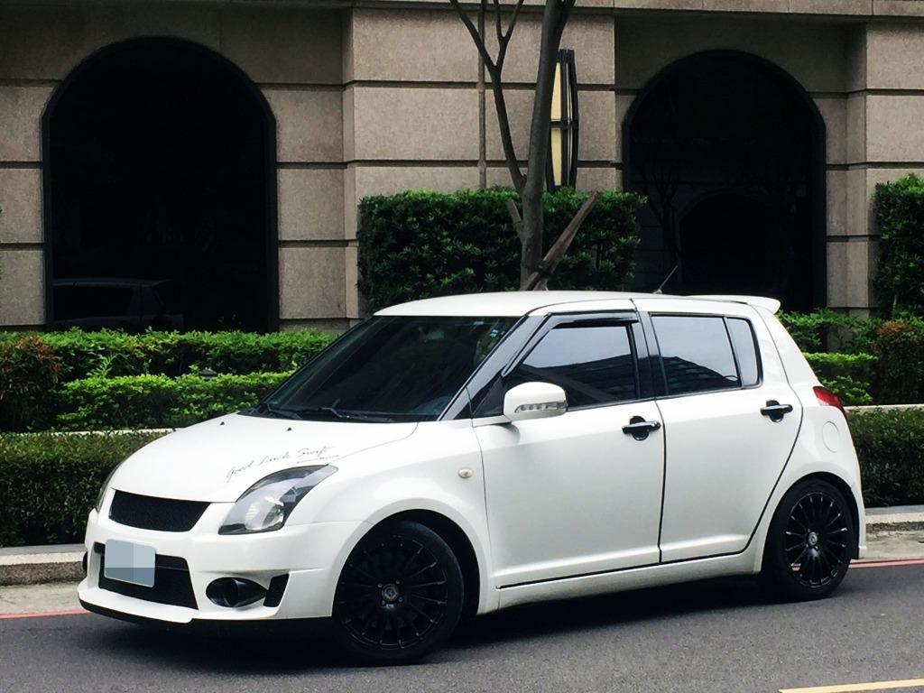 日系五門掀背小車 鈴木 2007 swift 白 1.5 歐式的車身外觀與便利的內裝配備