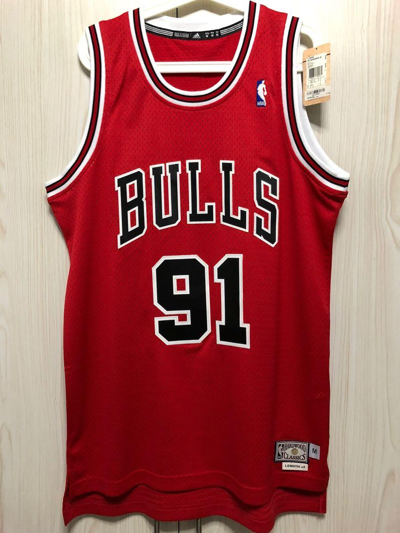 Adidas Swingman Chicago Bulls Dennis Rodman Jersey, Men's Fashion ...