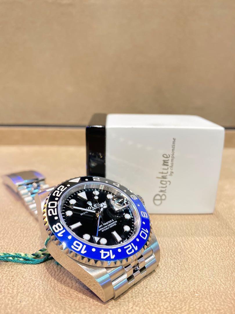 "Brand New Rolex Oyster GMT Master II 126710BLNR ""Batgirl"" Black Dial Automatic Steel Casing Bracelet"