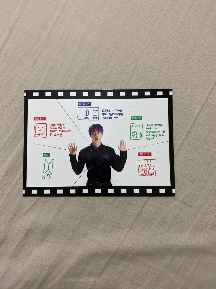BTS 6th Army Membership Kit Loose Items: Photobook, Poster & User Guide Jin ver.