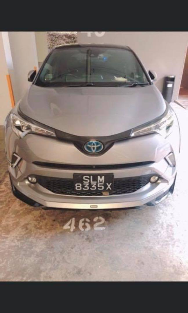 Cheap and sporty Toyota chr hybrid for rent with no dep