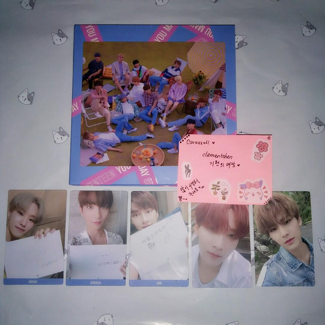 [FREE POSTAGE] SEVENTEEN YOU MAKE MY DAY TAIWAN EDITION ALBUM