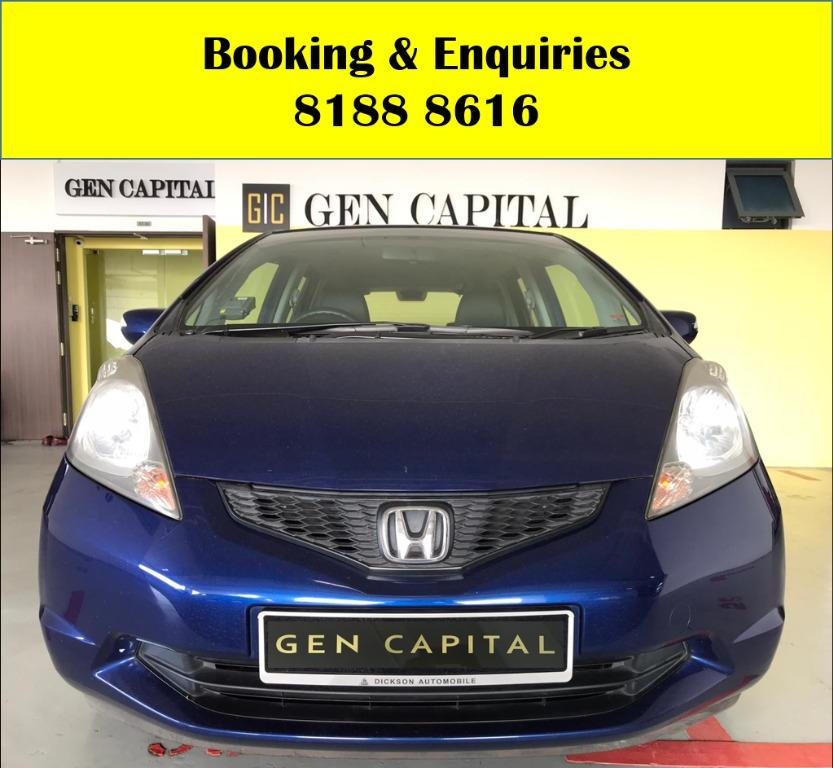 Honda Jazz 1.5A LUCKY THURSDAY!! FREE Petrol Voucher & FREE rental for new signups! Fuel efficient and Spacious car in Super condition! $500 Deposit driveaway immediately! Whatsapp 8188 8616 now to enjoy special rates!!