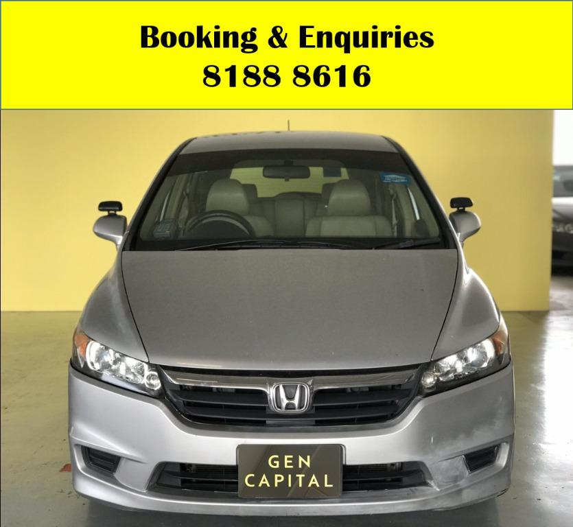 Honda Stream 1.8A HAPPY THURSDAY!! Lowest rate in town with just $500 Deposit driveaway immediately! Fuel efficient and Spacious car in Super condition! FREE Petrol Voucher & FREE rental for new signups! Whatsapp 8188 8616 now to enjoy special rates!!