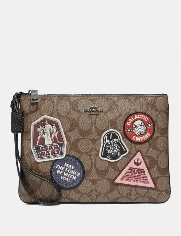 In stock clearance: authentic original F88545 Coach GALLERY POUCH coach wristlet STAR WARS X Coach limited edition