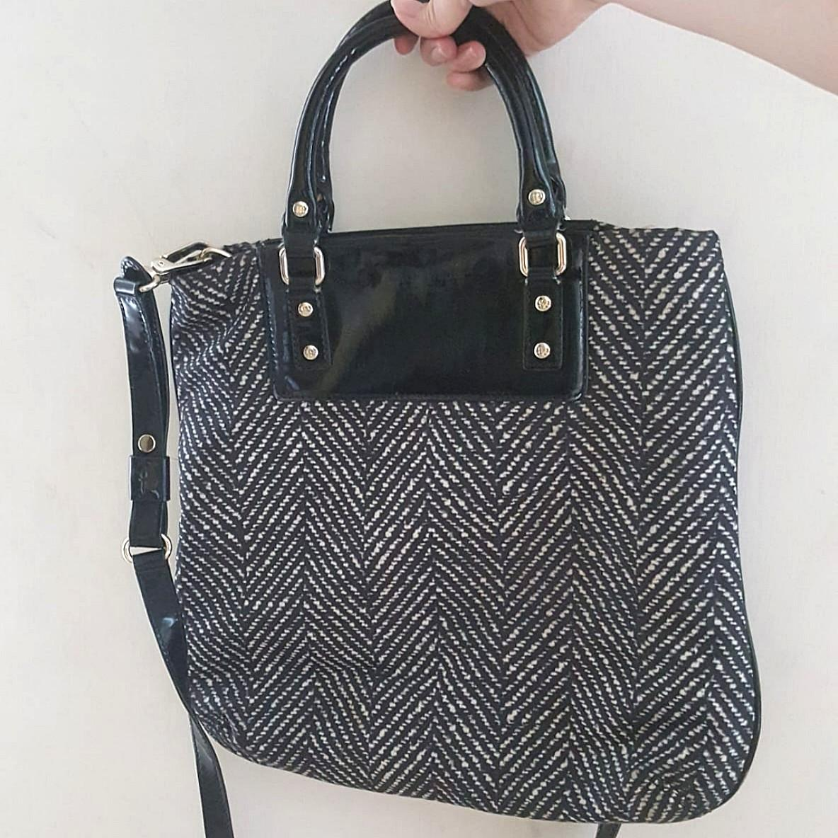 Kate Spade Monochrome Patterned Nylon Crossbody Bag ORIGINAL from store (worn 1x/no defect &stain)