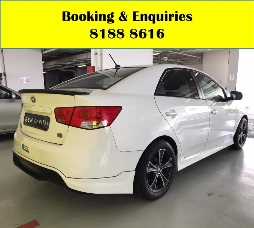 Kia Cerato 1.6A HAPPY THURSDAY!! Lowest rate in town with just $500 Deposit driveaway immediately! Fuel efficient and Spacious car in Super condition! FREE Petrol Voucher & FREE rental for new signups! Whatsapp 8188 8616 now to enjoy special rates!!