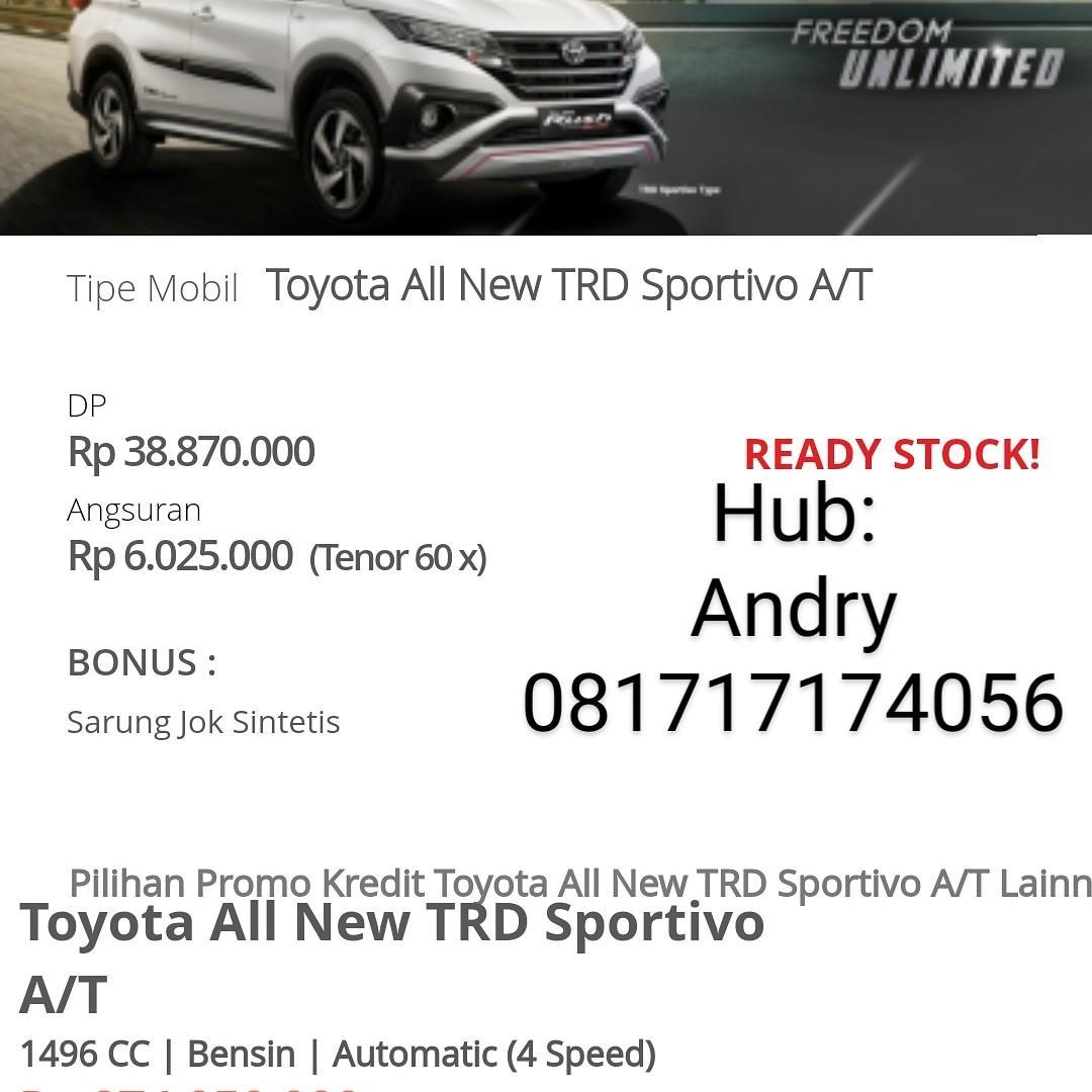 Kredit dp super murah Toyota allnew Rush S 1.5 A/T TRD SPORTIVO