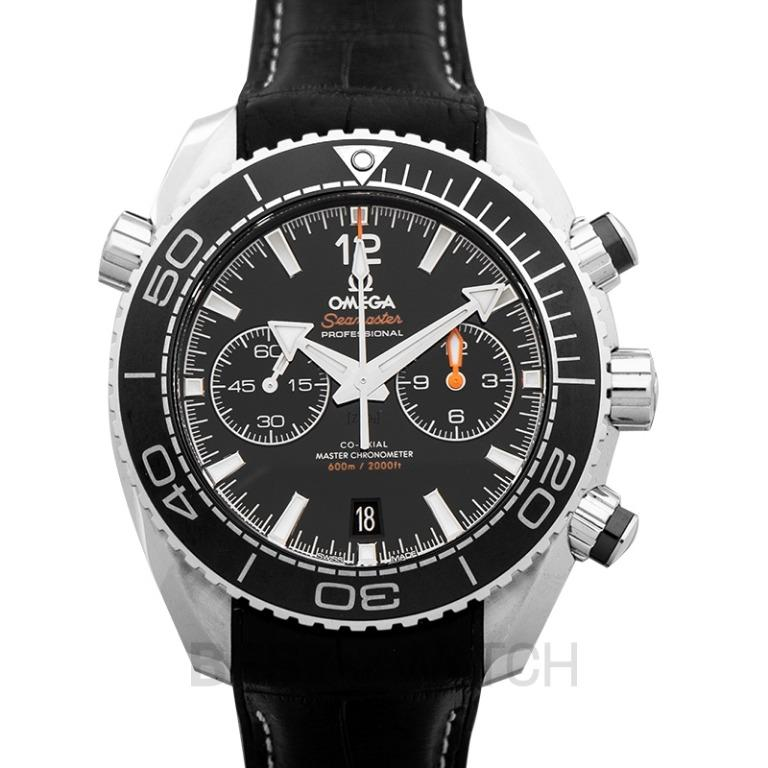 [NEW] Omega Seamaster Planet Ocean 600M Co-Axial Master Chronometer Chronograph 45.5mm Automatic Black Dial Steel Men's Watch 215.33.46.51.01.001