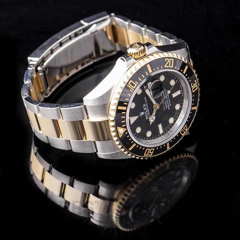 [NEW] Rolex Sea-Dweller Oystersteel and 18 ct Yellow Gold Automatic Black Dial Unisex Watch 126603-0001