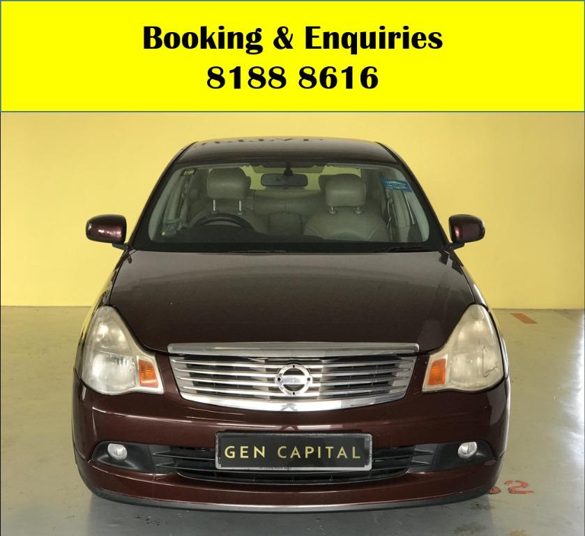 Nissan Sylphy 1.5A  LUCKY THURSDAY!! FREE Petrol Voucher & FREE rental for new signups! Fuel efficient and Spacious car in Super condition! $500 Deposit driveaway immediately! Whatsapp 8188 8616 now to enjoy special rates!!