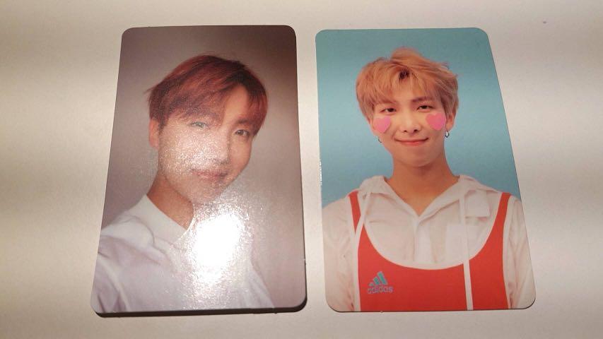 Photocard Bangtan Sonyeodan BTS RM Namjoon J Hope Jung Hoseok Love Yourself dan YNWA Official
