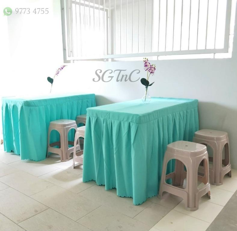 Rent Tables and Chairs Rental Cheap Backdrop Event Function Wedding Solemnisation Nikah Birthday Party Pelamin Dias Mini Buffet Industrial Theme Round Rectangular Rectangle Booth Tutu Cover Linen Skirting Cloth Photo Booth Live Station Dessert Deco 36