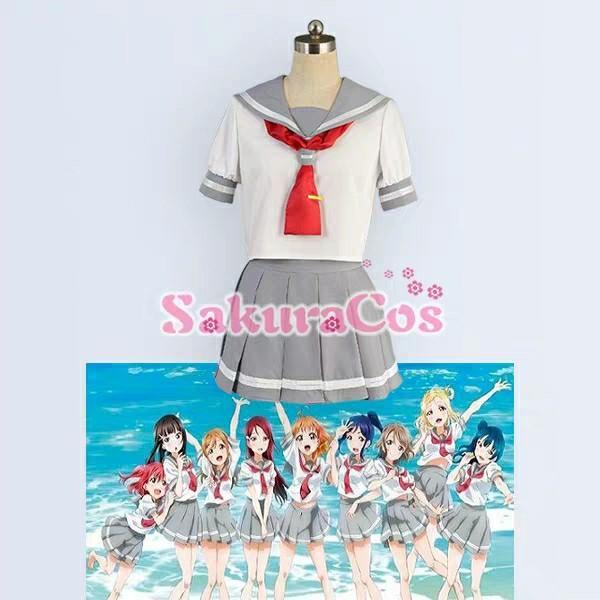 SakuraCos-LoveLive!Sunshine!!Aqours水團cos服校服cosplay服裝