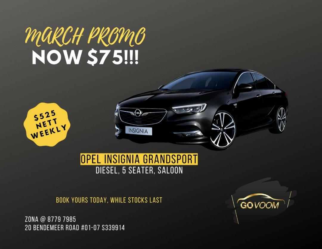 TIME LIMITED PROMO! OPEL ASTRA, OPEL INSIGNIA, KIA CARENS & RENAULT GRAND SCENIC (DIESEL FLEET)