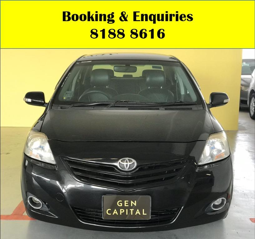 Toyota Vios LUCKY THURSDAY!! FREE Petrol Voucher & FREE rental for new signups! Fuel efficient and Spacious car in Super condition! $500 Deposit driveaway immediately! Whatsapp 8188 8616 now to enjoy special rates!!