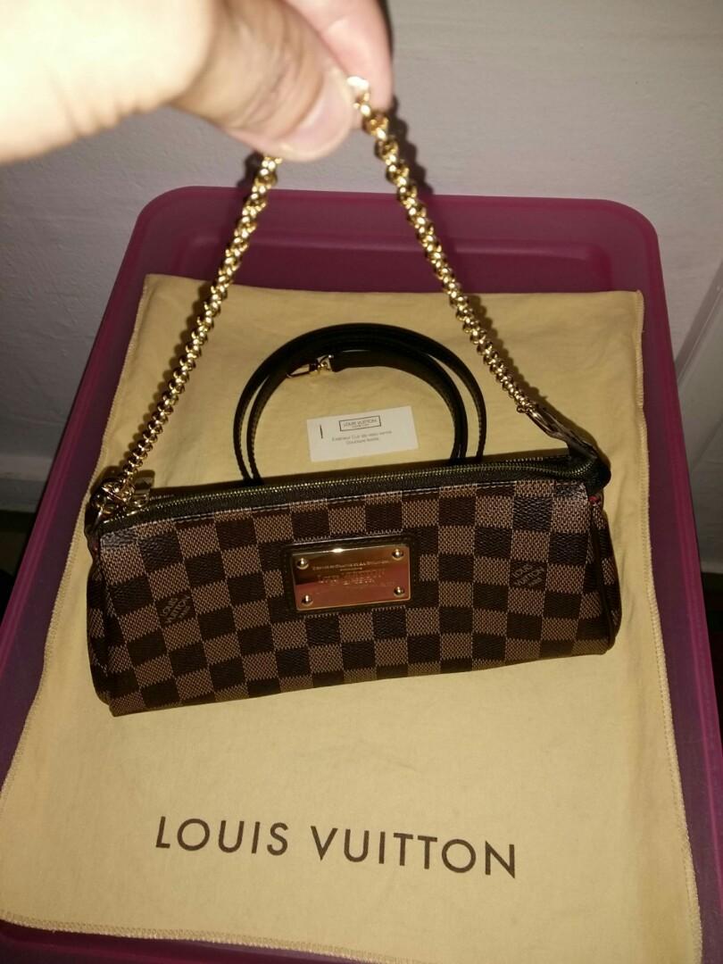 📢Clear sale $1350 NETT  💯Authentic Louis Vuitton Pochette Eva Damier Sling Bag N51997