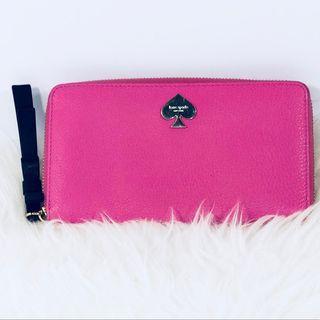 Kate Spade Pink Bow Zip-Around Wallet