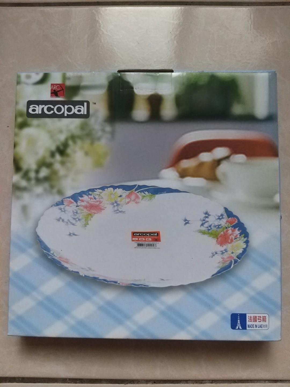 【法國ARCOPAL】現代藍強化餐具盤