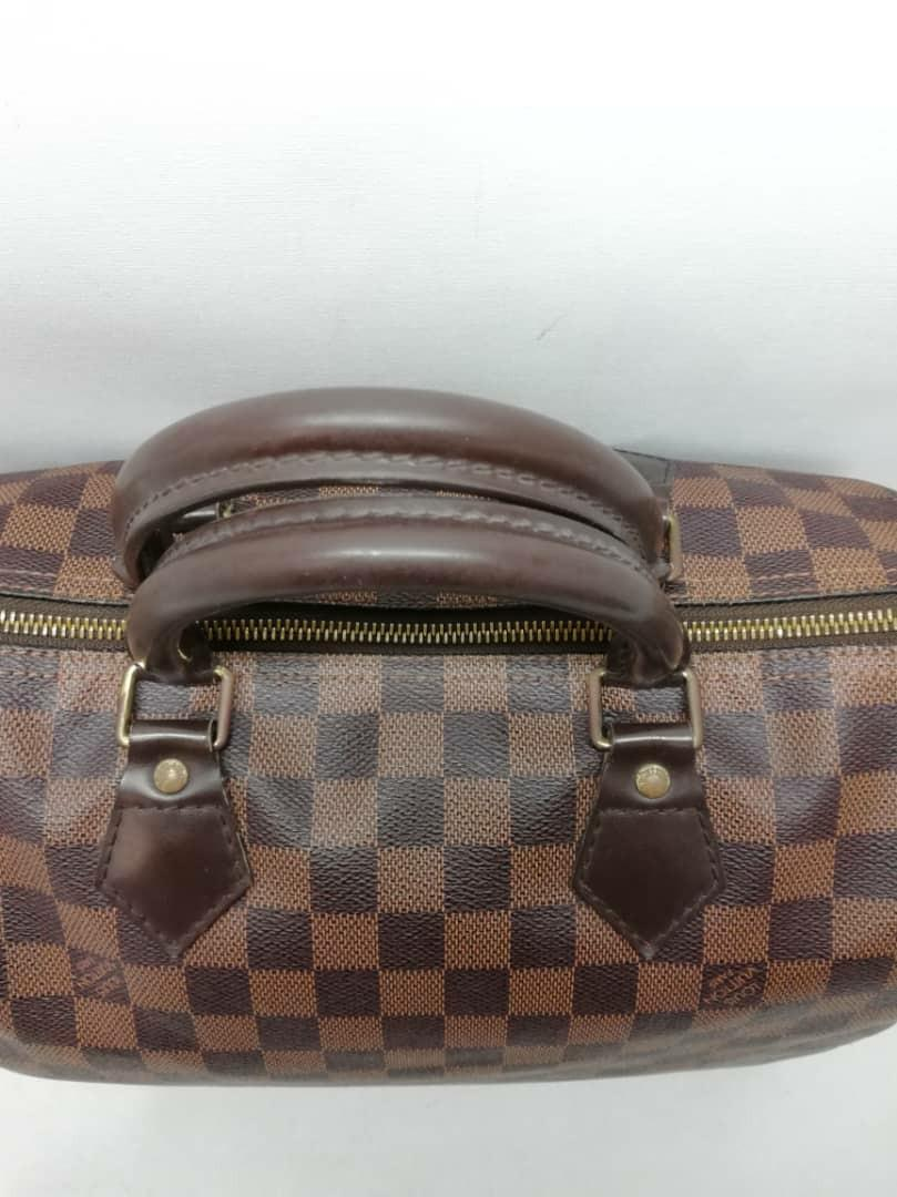 AUTHENTIC LOUIS VUITTON SPEEDY 30 DAMIER CANVAS - CLASSIC LV SPEEDY, SO ORIGINALLY WITHOUT STRAP - (NOW RETAILS AT RM 5100)