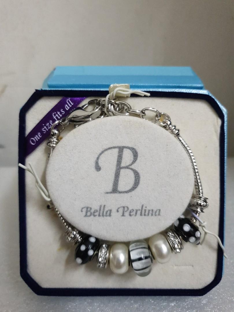 Bella Perlina Bracelet Personalized Jewelry Black Beads
