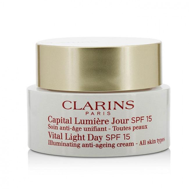 CLARINS Vital Light Day SPF 15 Illuminating Anti-Aging Cream - 50mL/ 1.7 oz.