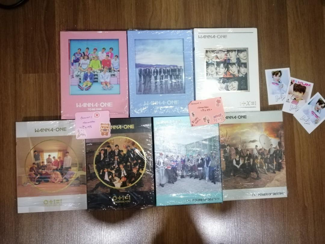 [FREE POSTAGE] [SET/EACH] WANNA ONE UNSEALED ALBUM ONLY!
