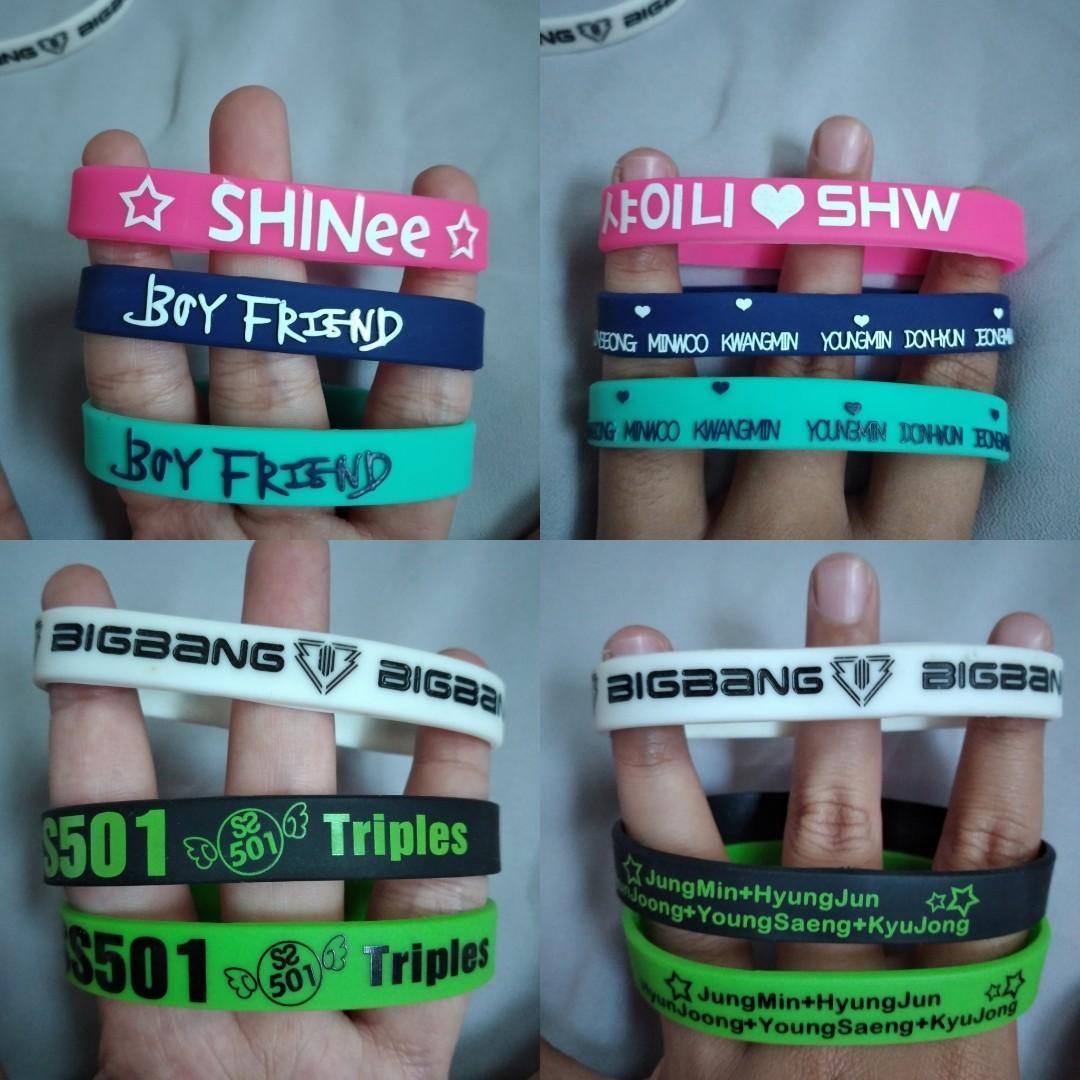 Kpop BoyGroup Bracelete Big Bang Boy Friend Shinee SS501 Triples