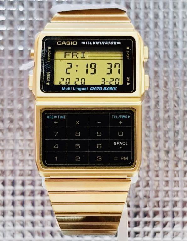 NEW🌟VINTAGE CASIO UNISEX SPORTS WATCH : 100% ORIGINAL AUTHENTIC : By G-SHOCK ( GSHOCK ) COMPANY : DBC-611G-1 (STEEL-GOLD)