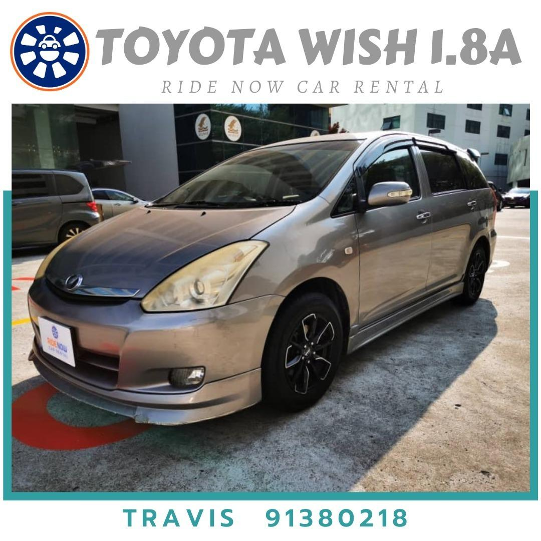 Toyota Wish 1.8A Perfect Family Vehicle! 7-seater available for both short and long term
