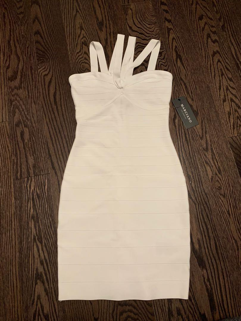 NEVER WORN WHITE BANDAGE DRESS - Marciano Clementine Dress