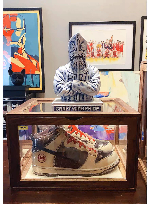 Wooden Sneaker Display Case, Men's