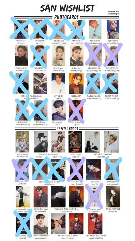 [WTB/LFS] ATEEZ San's Normal and Special ver. photocards