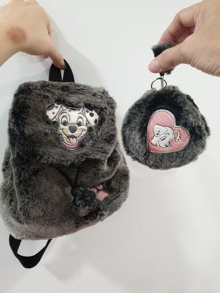 Dalmatian small backpack with coin pouch