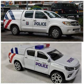 *Limited Quantities*                                                     1:58 Majorette diecast Singapore Police Force TL vehicle Toyota Hilux