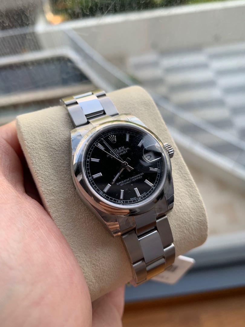 FINAL DEAL 28% OFF!! 5 years warranty Brand New Rolex Boys DateJust Rhodium Black Dial 31mm Boy Size 178240 Latest Model