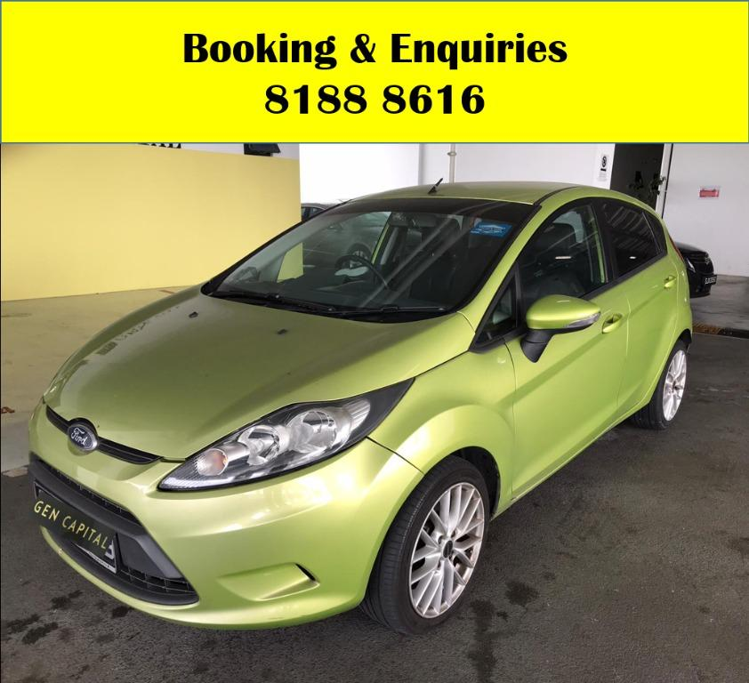Ford Fiesta LUCKY SATURDAY!! Enjoy FREE Petrol Voucher & FREE rental for new signups! Fuel efficeint, spacious & well maintained! Just $500 Deposit driveaway immediately! Whatsapp 8188 8616 now to enjoy special rates!!