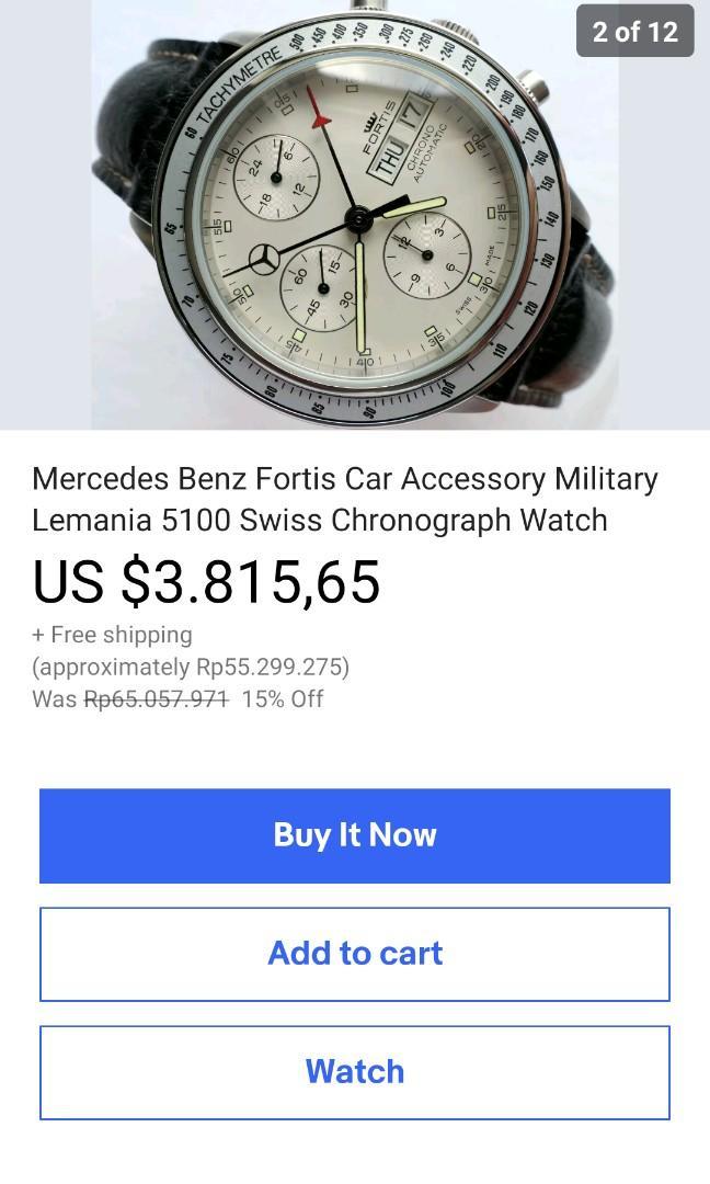 Rare Fortis GMT Lemania 5100 Limited Mercedez benz Military automatic no seiko tudur rolex omega Hamilton longines mido baume zenith girard oris hermes cartier tag heuer