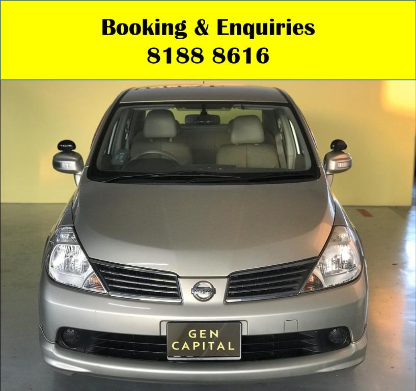 Nissan Latio LUCKY SATURDAY!! Enjoy FREE Petrol Voucher & FREE rental for new signups! Fuel efficeint, spacious & well maintained! Just $500 Deposit driveaway immediately! Whatsapp 8188 8616 now to enjoy special rates!!