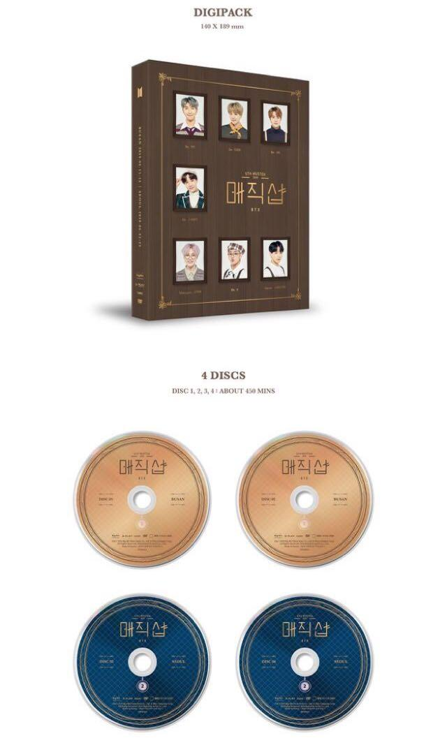 [Preorder] BTS 5th Muster Magic Shop DVD (Loose Item) already ordered