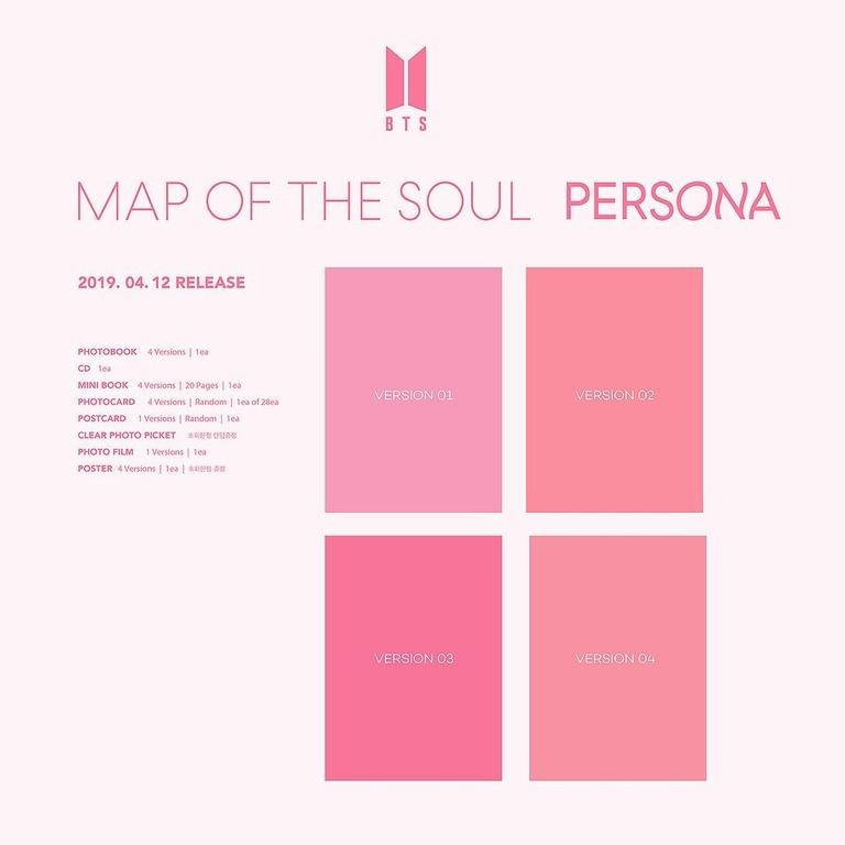 [Pre-Order] BTS Map of the Soul: Persona [6th Korean Mini Album (Vol.6)]+ Free Gift!!