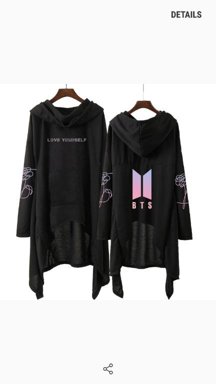 READYSTOCK[WTS] - Preloved bts love yourself hooded dress