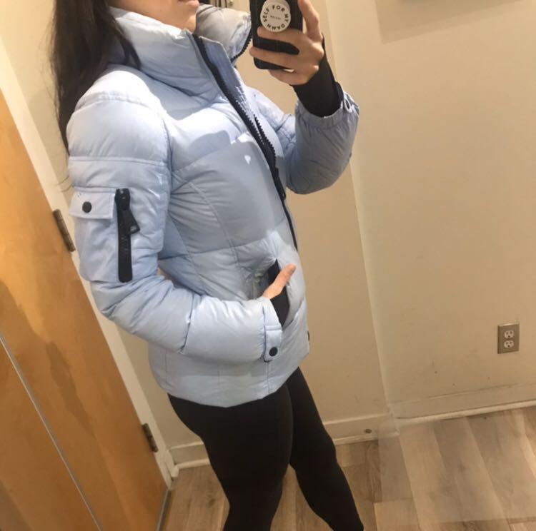 SAM NY Womens Freestyle Jacket Light Blue Size Small