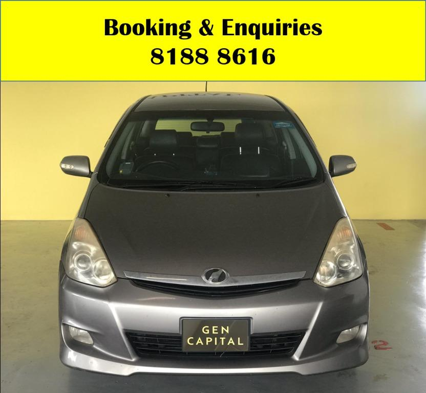 Toyota Wish LUCKY SATURDAY!! Enjoy FREE Petrol Voucher & FREE rental for new signups! Fuel efficeint, spacious & well maintained! Just $500 Deposit driveaway immediately! Whatsapp 8188 8616 now to enjoy special rates!!