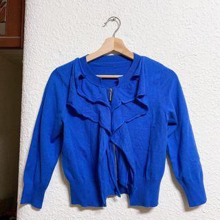 寶藍針織外套