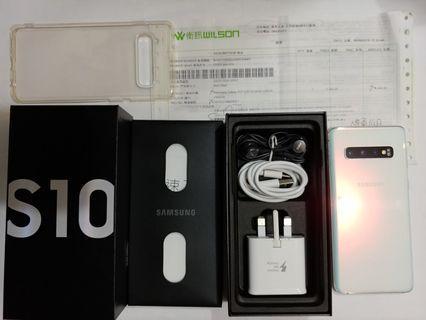 99%新行貨,保養到8月,白色samsung s10 dual雙卡,全套齊,有盒有單
